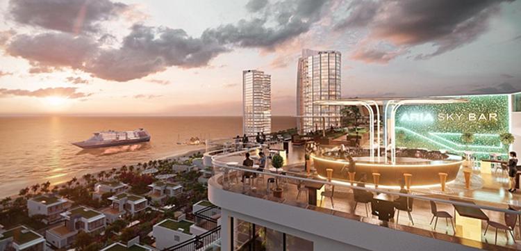 tiện ích trên sân thượng dự án Aria Vũng Tàu Hotel & Resort.